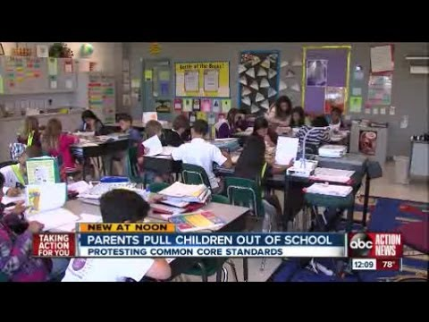 Parents take children out of school to protest Common Core standards