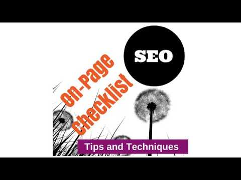 On Page SEO Optimization Checklist  Tips, Tricks and Techniques