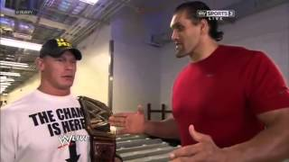 john cena & the great khali talking in hindi language Funny) WWE Monday Night Raw 15th July 2013