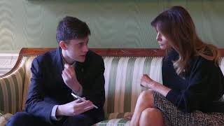 First Lady Melania Trump Meets with Marjory Stoneman Douglas HS Student Kyle Kashuv