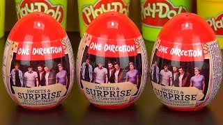 One Direction Amazing Cute Surprise Eggs Play Doh Kids Fun