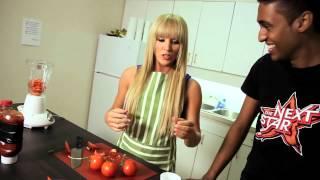 YTV's The Next Star- Tara Oram makes a tomato smoothie!