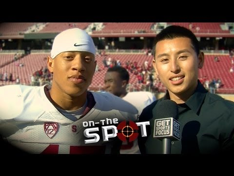 Stanford Cardinal DB - Usua Amanam On-the-Spot w/ Justin Lum