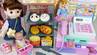Mart and baby Doll food market cash register toys play - 토이몽