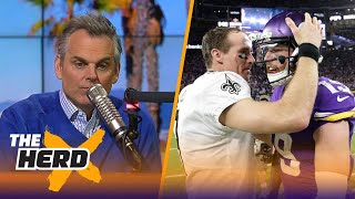 Colin reacts to the Minnesota Vikings beating Drew Brees and the Saints on Sunday   THE HERD