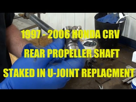 How to replace a staked in U-Joint on a Honda CRV..  Years 1997 - 2006