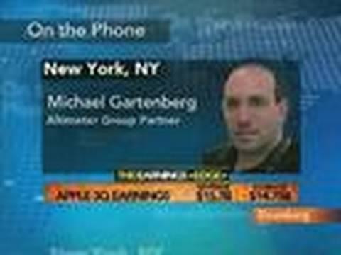 Gartenberg Calls Apple 4th-Qtr Revenue Outlook `Unusual': Video