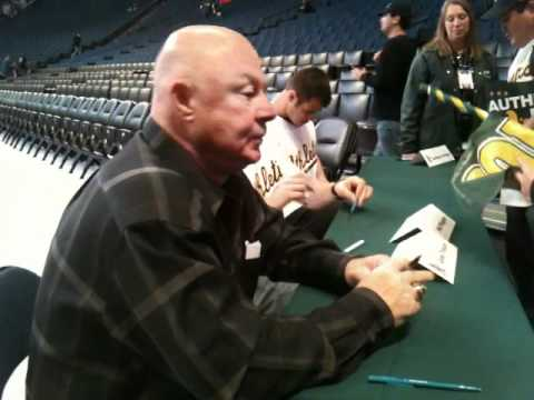 Gene Tenace former A's World Series MVP at the FanFest 2012