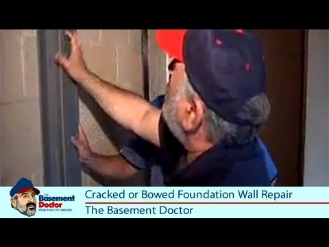 Cracked Foundation Repair   Bowed Basement Wall Bracing   I Beam   Basement Doctor Columbus OH