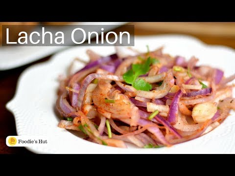 Laccha Onion Salad|Onion Lachha|Pyaaz Ka Lachha - Recipe by Foodie's Hut#0209