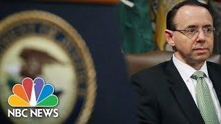 Deputy Attorney General Rod Rosenstein Makes Law Announcement | NBC News