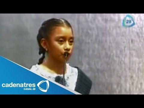 Niña indígena conmociona por su discurso en certamen de fotografía