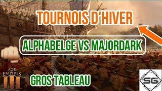 Tournois AOE III Hiver Demi Finale - AlphaBelge VS MajorDark !