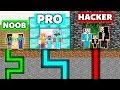 Minecraft : NOOB Vs PRO Vs HACKER : FAMILY PRISON ESCAPE BATTLE Challenge Minecraft Animation