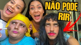TENTE NÃO RIR 🤣 FIZEMOS UMA MAQUIAGEM BIZARRA NELES! ft. Amanda Branciforte