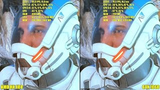 Mass Effect Andromeda Pc GTX 1060 Vs AMD RX 480 Frame Rate Comparison
