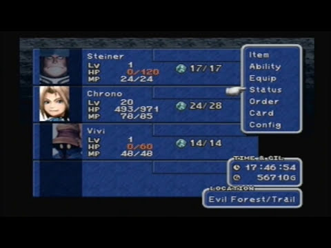 Final Fantasy 9 - Impossible evil forest grind to 99 - Level 20 - 0.24%