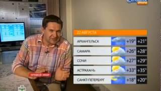 Прогноз погоды НТВ из Внуково, метеолокатор
