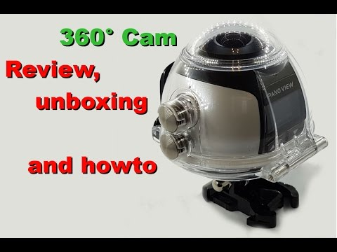 Review. unboxing and howto – 360° Mini WiFi Panoramic Video Camera