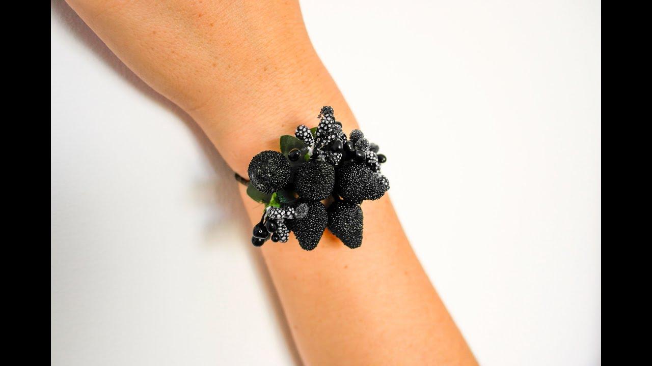 Браслеты из живых цветов на руку своими руками три свадебных. Букетио 42