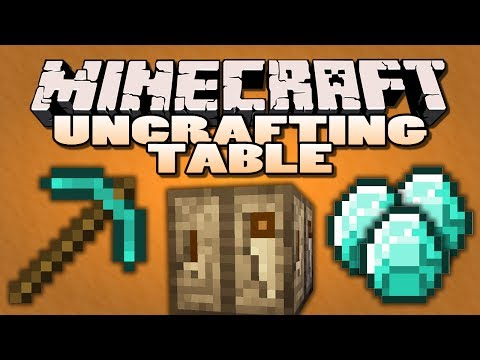 Minecraft Mods - Uncrafting Table Mod - REVERSE CRAFTING (Minecraft Mod Showcase)