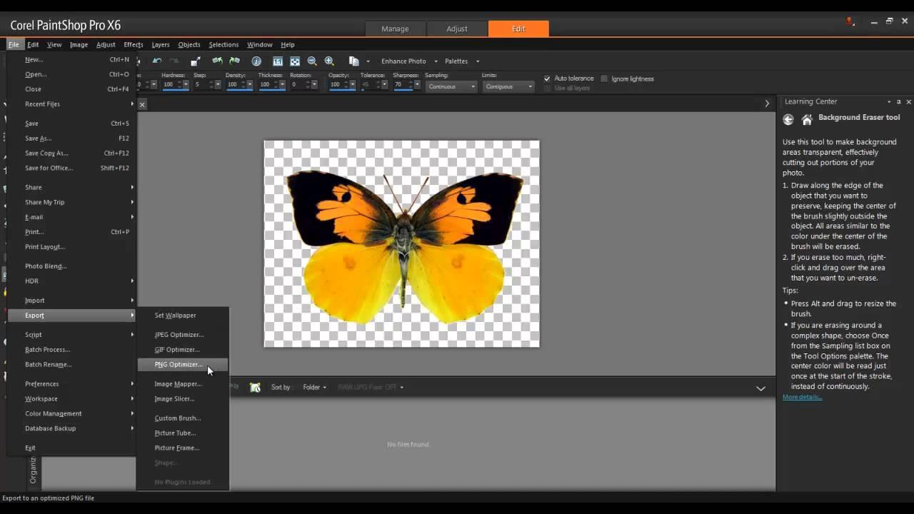 in Corel Paintshop Pro x6