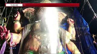 36 Feet Clay Ganesh Immersion In Peddapalli | Ganesh Nimajjanam 2018
