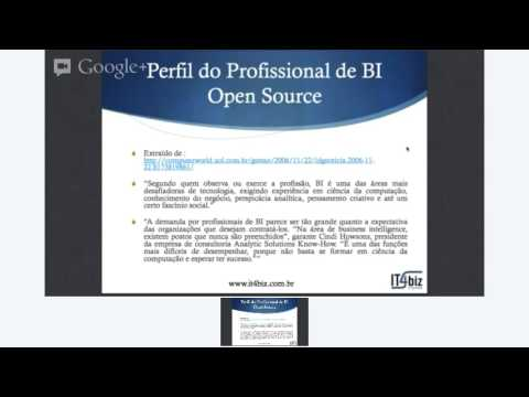 Aula 01 - Curso Gratuito Online Desmistificando BI (Business Intelligence) Open Source