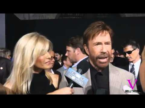 PART 4–Chuck Norris interview at Expendables 2 premier in Hollywood