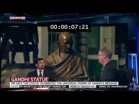 Interview on Sky News Live - Mahatma Gandhi statue unveiling in Parliament Square