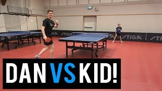 11 year old David Bjorkryd vs TableTennisDaily's Dan!