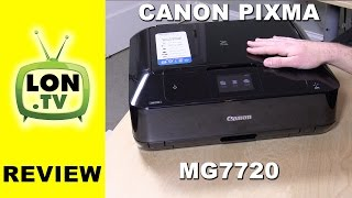 Canon Pixma MG7720 Review - Wireless All-In-One Printer with Scanner - Air Print Google Cloud Print