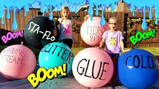 Making SLIME With GIANT BALLOONS!!! - DIY Giant Slime Balloon Tutorial!!!