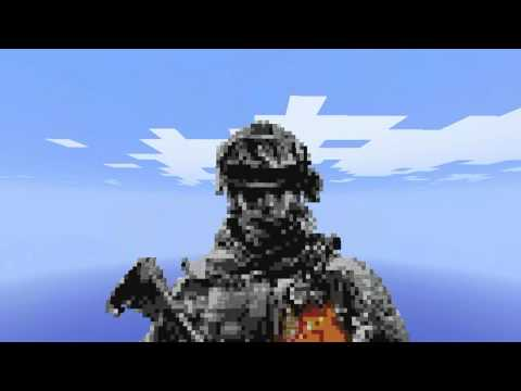 Minecraft - Battlefield 3 Soldier Pixel Art