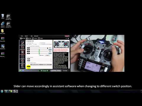 DJI Naza-M Assistant—TX Calibration(JR)&3-Position Switch&Fail-Safe Setting