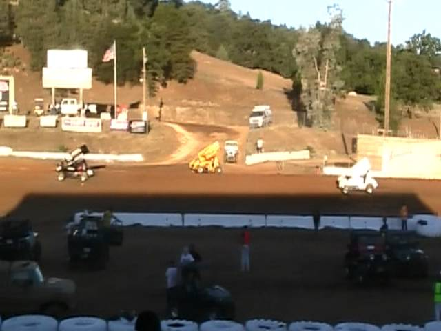 King of the West Sprint Car Crash @ Placerville Speedway 6/30/12