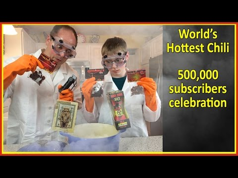 Worlds Hottest Chili : Plutonium, The Source, Carolina Reaper, Flashbang, Ghost Pepper