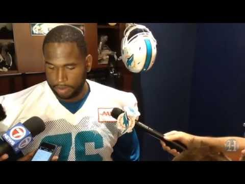 Miami Dolphins' Branden Albert, Kenny Stills speak with media