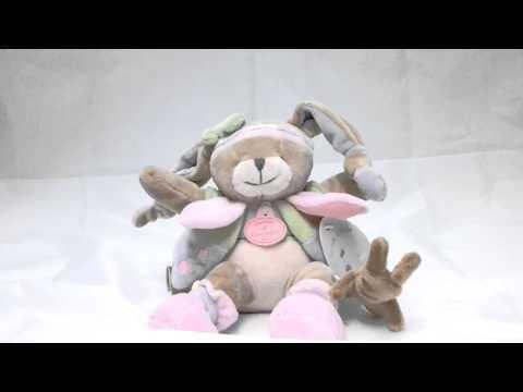 Doudou lapin musical Lila Doudou et Compagnie - Une cuillère pour doudou