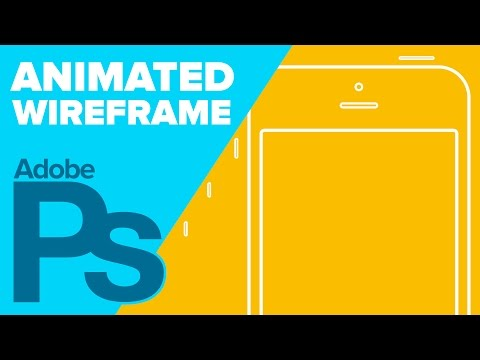 iPhone Wireframe Animation in Photoshop!