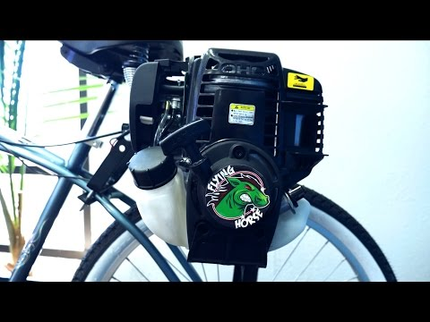 4-Stroke 38cc Friction Drive Motor Bicycle Engine Kit Installation | The Flying Horse Lock-n-Load