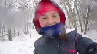 Despite Massive, Historic Blizzard 2016 paralyzing east coast children have fun in the snow.