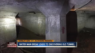 Underground tunnel discovered at 27th and Cleveland