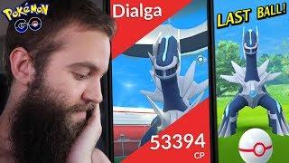 DAY ONE DIALGA RAIDS! (FEAT. DANCING DIALGA.. WHAT??) - POKEMON GO GEN 4 LEGENDARY BOSS