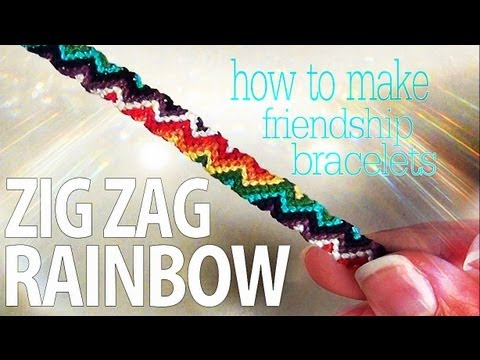 How to make friendship bracelets zig zag rainbow youtube for How to make and sell
