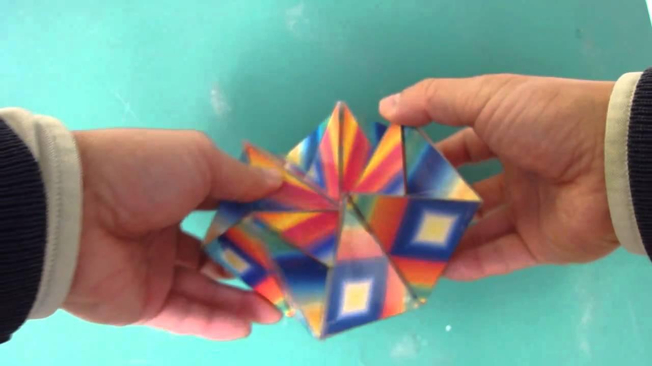 すべての折り紙 折り紙 マジックボール 折り方 : カライドサイクル - YouTube