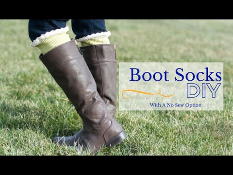 DIY Boot Socks Tutorial