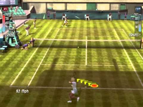 Top Spin 2  Gameplay Venus Williams Vs Serena Williams Wimbledon Set1 Part1