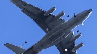 GO PRO FOOTAGE Russian Military Paratroopers Training Exercise