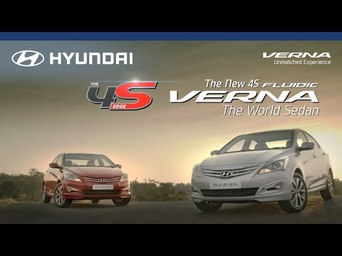 4S Fluidic Verna - The World Sedan - Hyundai India official TV commercial 2015